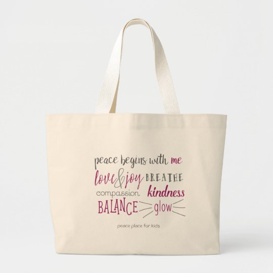 Peace Begins with Me Tote