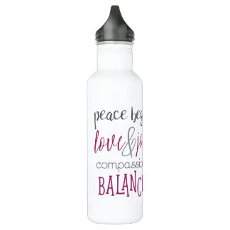 Peace Begins with Me Water Bottle