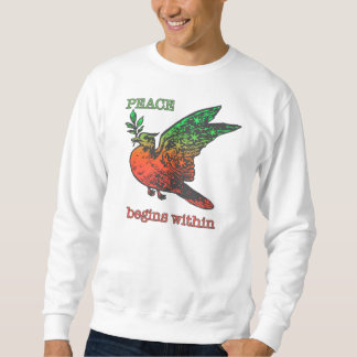 Peace Begins Within apparel Pull Over Sweatshirt