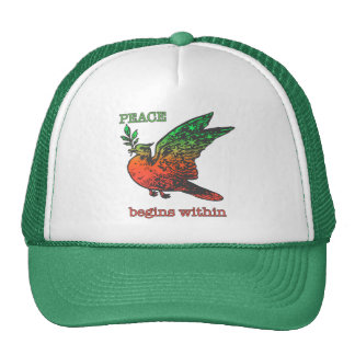 Peace Begins Within Mesh Hats