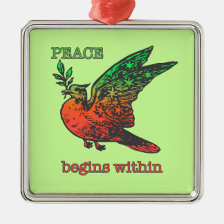 Peace begins within ornament
