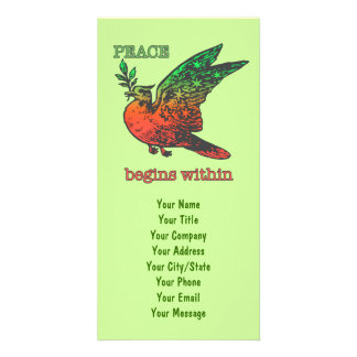Peace Begins Within Photo Card Template