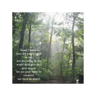 Peace Bible Scripture Wall Hanging Stretched Canvas Prints