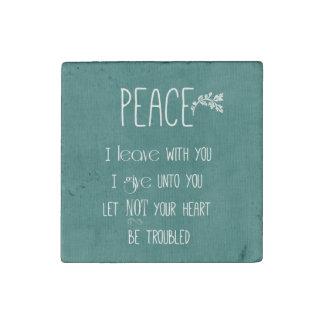Peace Bible Verse Stone Magnet
