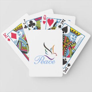 Peace Bicycle Playing Cards