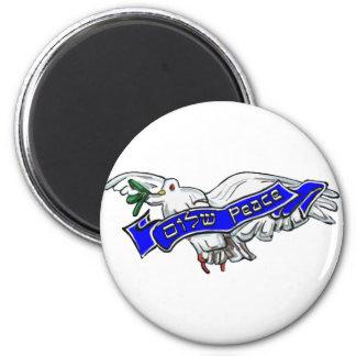 Peace Bird 6 Cm Round Magnet