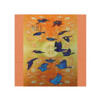 Peace Birds Wood Prints