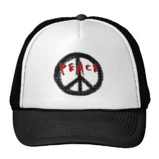 Peace Black and Red Cap