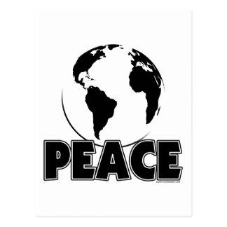 Peace Black&White Earth-Light Postcard