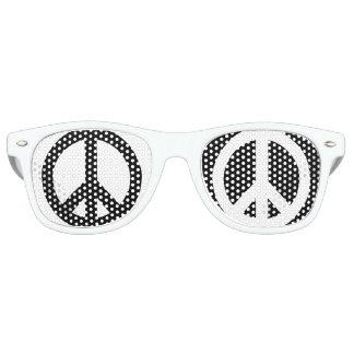 Peace Black & White Retro Sunglasses