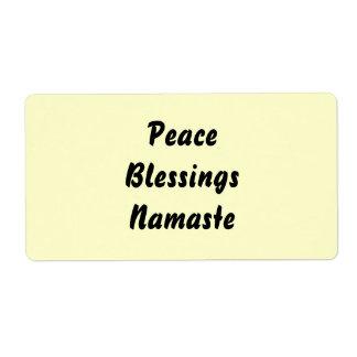 Peace, Blessings, Namaste.