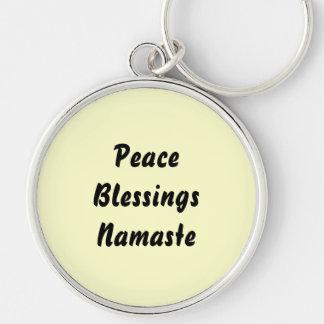 Peace, Blessings, Namaste. Key Ring
