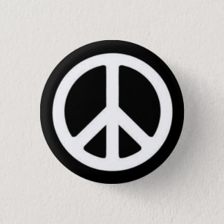 Peace BnW 3 Cm Round Badge