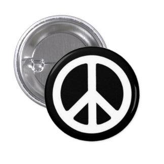 Peace BnW Pinback Button