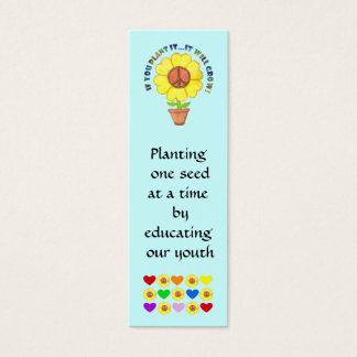 Peace Bookmark Mini Business Card