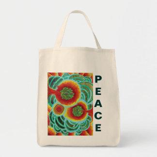 Peace Bubbles Tote Bag