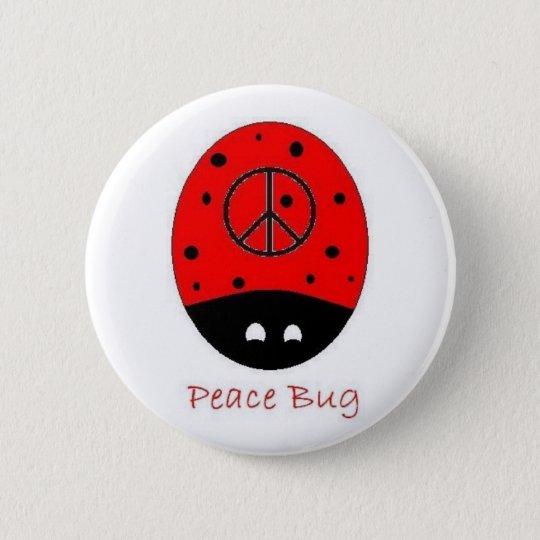 peace bug button white