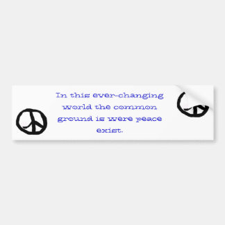 peace, bumper sticker