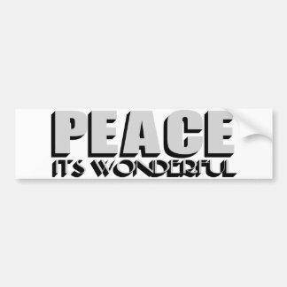 peace bumper stickers