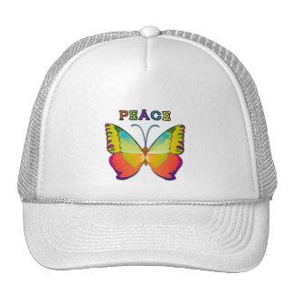PEACE BUTTERFLY TRUCKER HATS