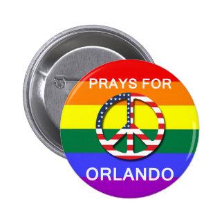 "Peace Button 5,7 cm - ""Prays Will be Orlando """
