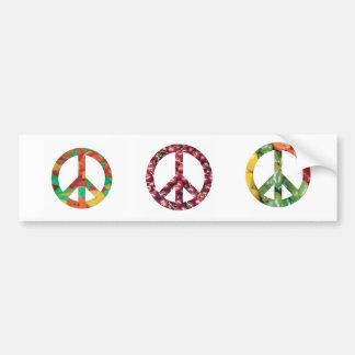 Peace Candy Car Bumper Sticker