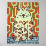 Peace Cat poster