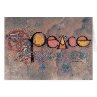 Peace Celtic Christmas Card