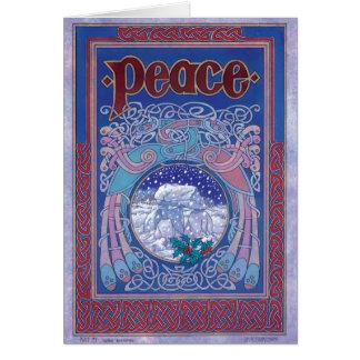 Peace Celtic Irish Christmas Card