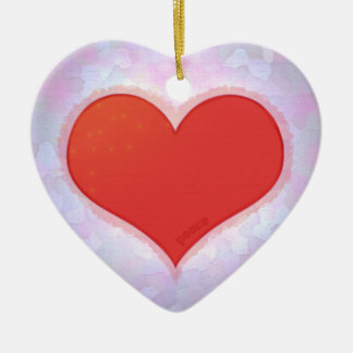 Peace Ceramic Heart Decoration