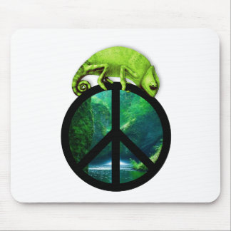 peace chameleon mouse pads