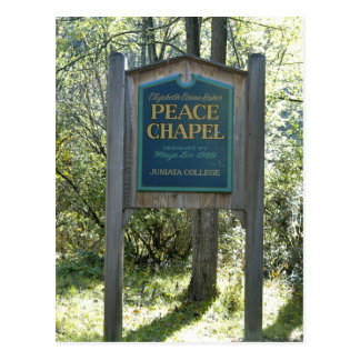 Peace Chapel Sign Postcard