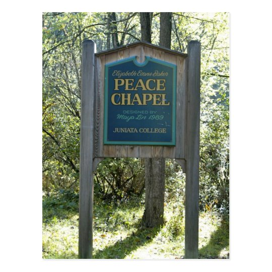 Peace Chapel Sign Postcard