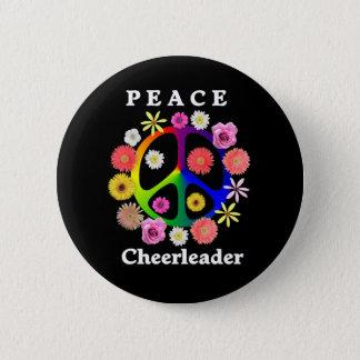 Peace Cheerleader 6 Cm Round Badge