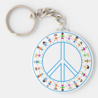 Peace -Children Around The World Key Ring