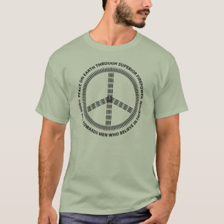 peace christmas black T-Shirt