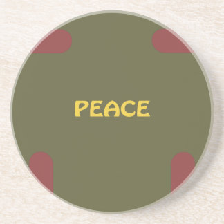 peace, Christmas, caps, Sponaps Connect Through Lo Beverage Coaster