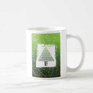 Peace Christmas Tree Green Coffee Mug