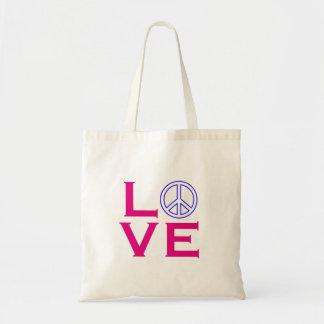 Peace Circle Symbol Love Budget Tote Bag