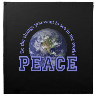 PEACE cloth napkins