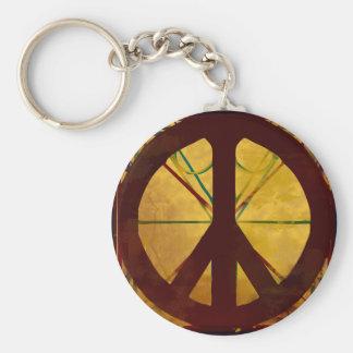 Peace Codex Antique Art Keychain