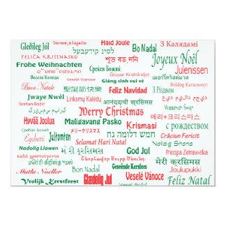 Peace Coexist Happy Merry Christmas Many Languages 13 Cm X 18 Cm Invitation Card