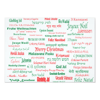 Peace Coexist Happy Merry Christmas Many Languages Card