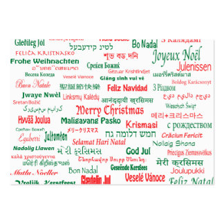 Peace Coexist Happy Merry Christmas Many Languages Pack Of Chubby Business Cards