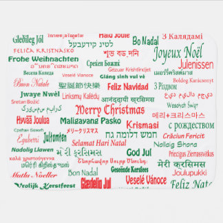 Peace Coexist Happy Merry Christmas Many Languages Swaddle Blankets
