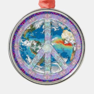 Peace - Coexist Silver-Colored Round Decoration