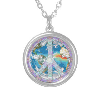Peace - Coexist Silver Plated Necklace