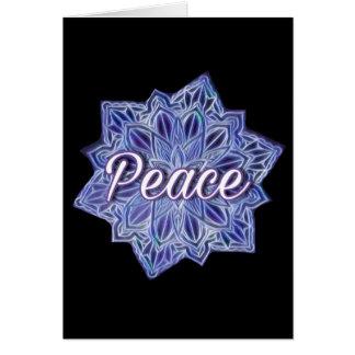 Peace colourful mandala card