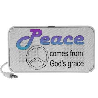 Peace comes from God's grace Christian Laptop Speaker