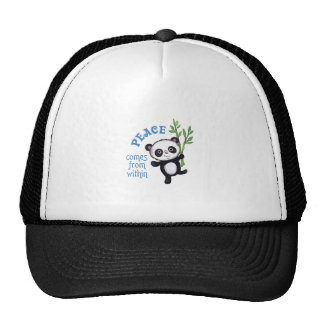 PEACE COMES FROM WITHIN MESH HAT